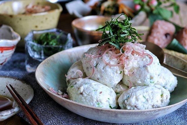 冷んやり鶏肉の豆腐団子