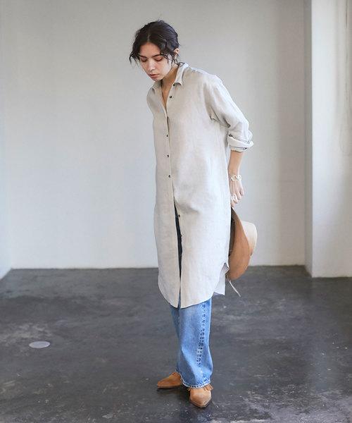 [GALLARDAGALANTE] リネンチュニックシャツ