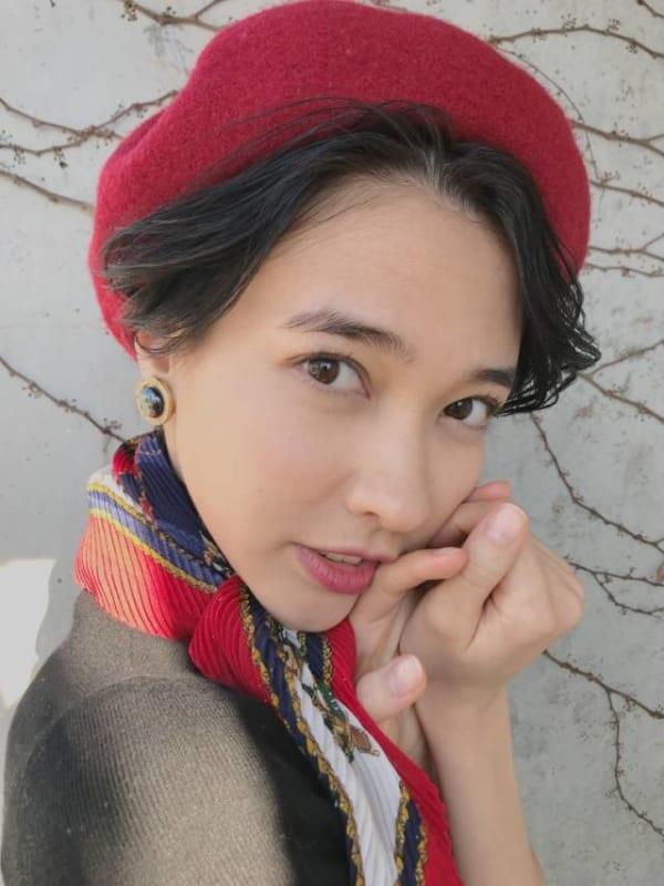 ベレー帽 ショート 髪型2