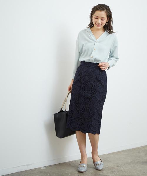 [ROPE' PICNIC] レースタックタイトスカート
