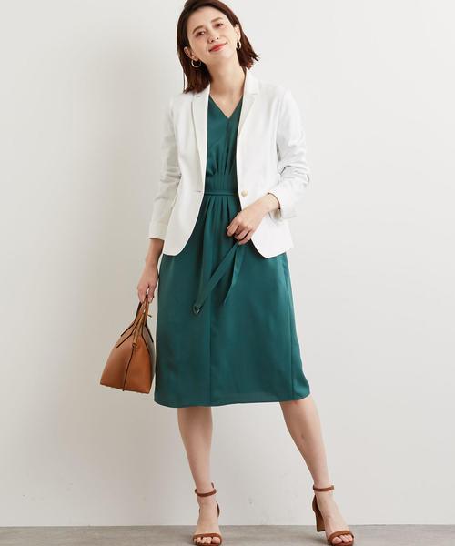 [green label relaxing] [手洗い可能 ライトDオックス] ◆D テーラード ジャケット