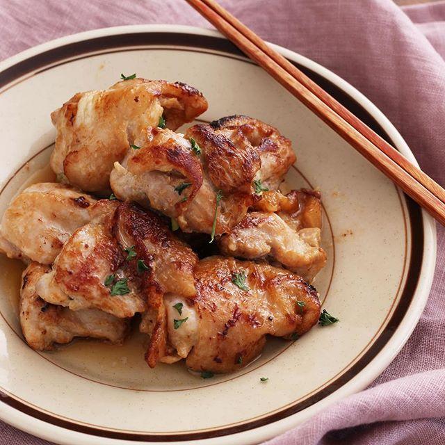 鶏肉の梅マヨ照り焼き