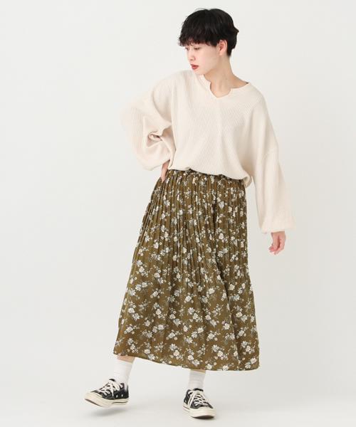[kutir] 柄アソートプリーツスカート