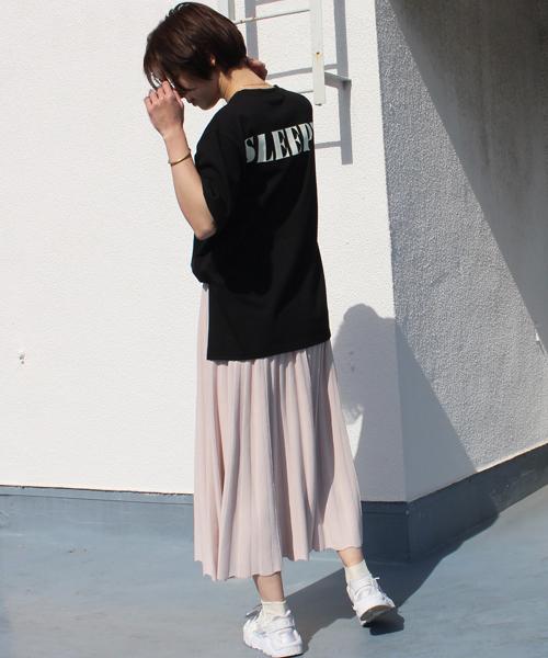 [STYLE AVENUE] ビッグシルエットSLEEPYバックロゴTシャツ2