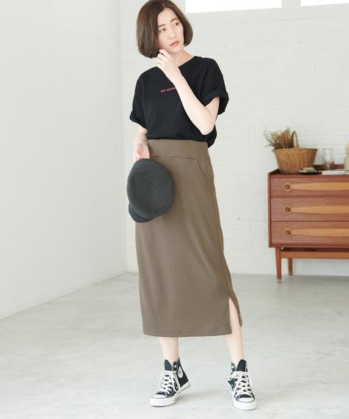 [ROPE' PICNIC] 【WEB限定】変型ワッフルスカート