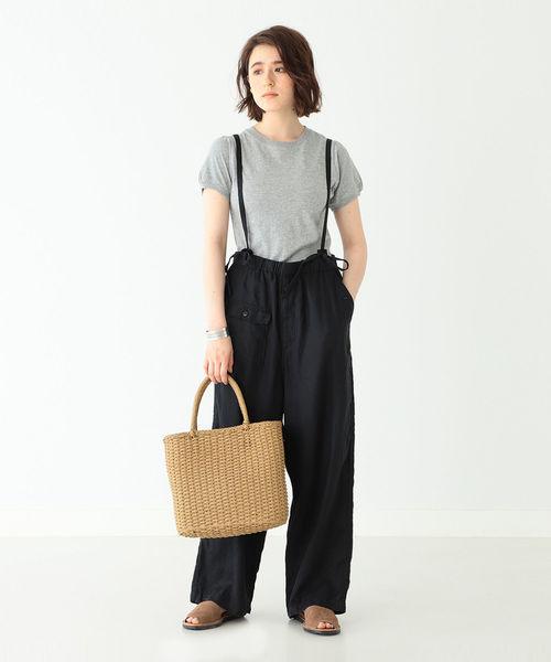 [BEAMS WOMEN] BEAMS BOY / パフスリーブ クルーネック Tシャツ