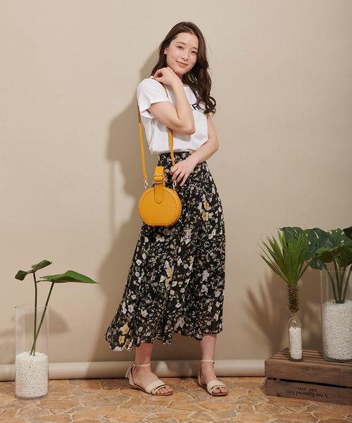 [Noela] コラージュフラワーロングスカート