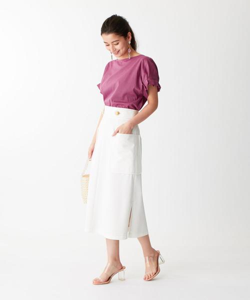 [EMMEL REFINES] SMF コットンツイル フロントチェーンスカート