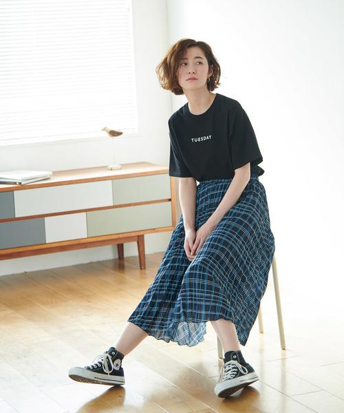 [ROPE' PICNIC] チェック柄プリーツスカート