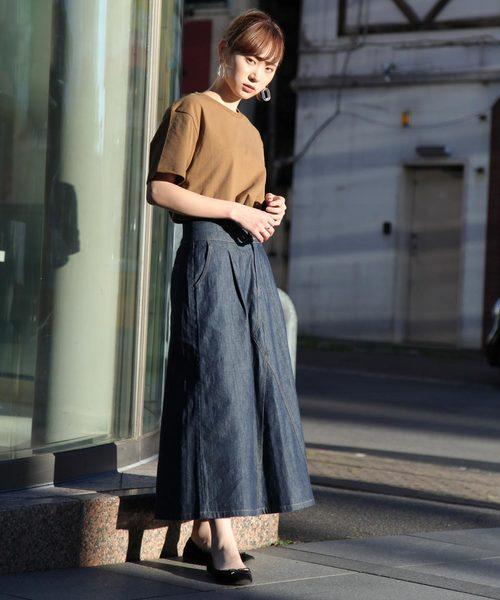 [ZIP FIVE] 【別注・コラボ】ZIP FIVE×KANGOL ヘビーウェイト袖ワッペンクルーネック半袖Tシャツ