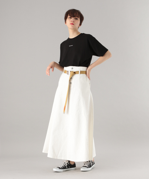 [PAGEBOY] キリカエデニムAラインスカート