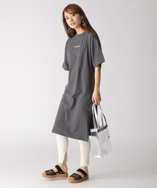 [mysty woman] FRUIT/刺繍Tシャツワンピース 835312