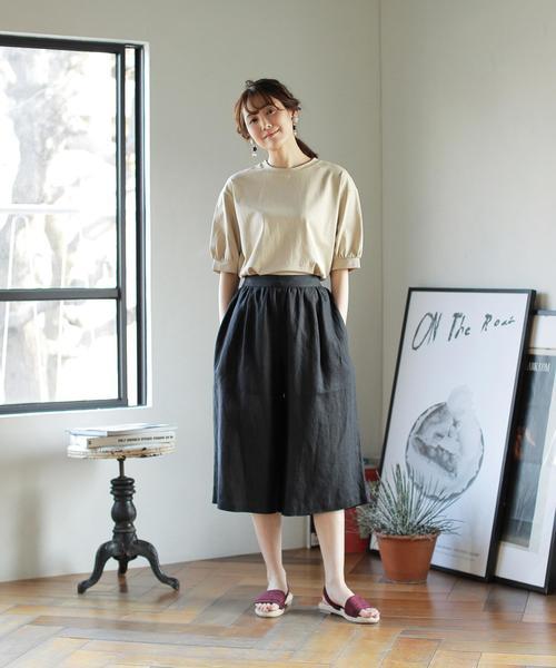 出典:zozo.jp [coen] 【新色ブラック登場】コットンパフスリーブカットソー