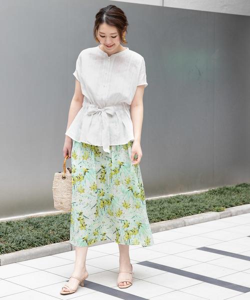 [URBAN RESEARCH ROSSO WOMEN] ぼかしフラワープリントスカート