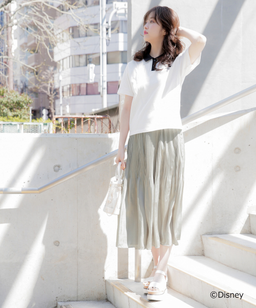 [Heather] サテンプリーツロングスカート 835808