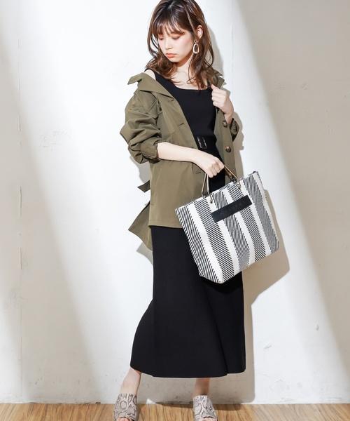 [natural couture] ベルト付きニットスカート