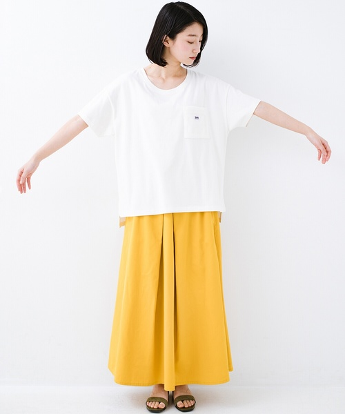 [haco!] 【Lee】【haco!別注デザイン】パイルポケットTシャツ