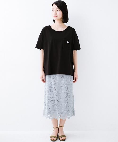 [haco!] 【Lee】【haco!別注デザイン】パイルポケットTシャツ2