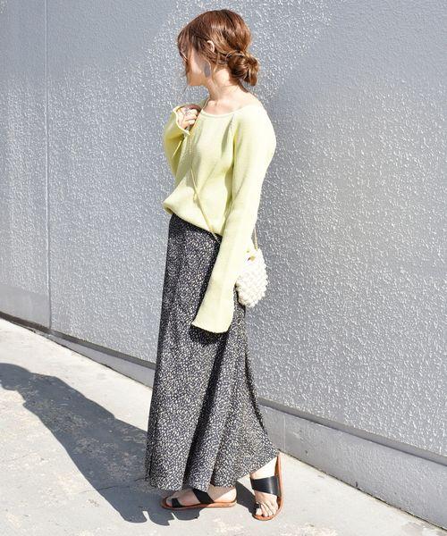 [SHIPS for women] 【手洗い可能】レオパードスカート◇