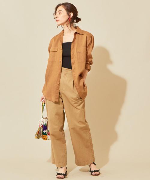 [BEAUTY&YOUTH UNITED ARROWS] BY LINIFICIOリネンカラーポケットシャツ