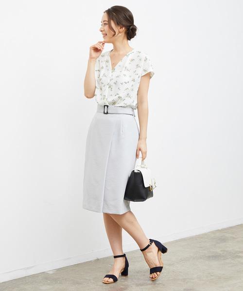 [ROPE' PICNIC] ラップ風ベルト付きスカート