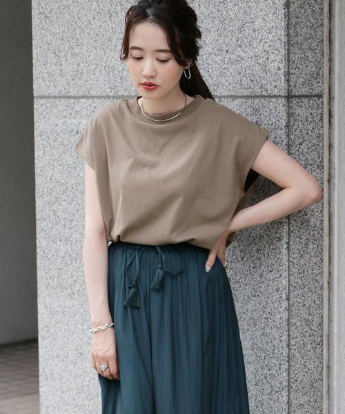 [ITEMS URBANRESEARCH] クルーネックノースリーブTシャツ