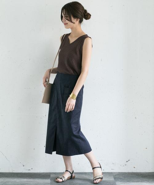 [URBAN RESEARCH ROSSO WOMEN] ストレッチリネンタイトスカート