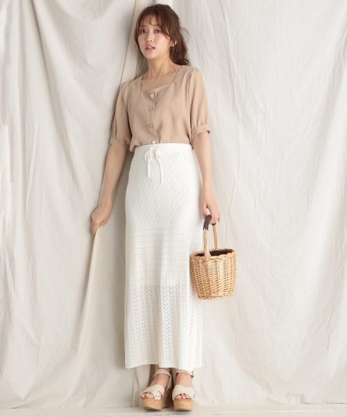 [Heather] カギバリロングスカート 838094