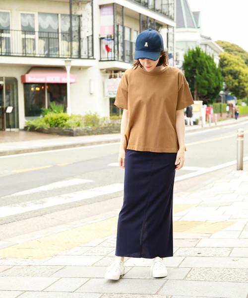 [niko and...] サラサラリブロングタイトスカート