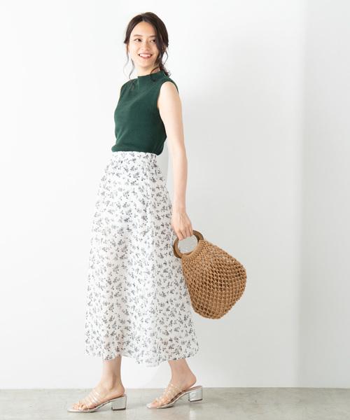 [WEGO] WEGO/シアーパターンロングスカート