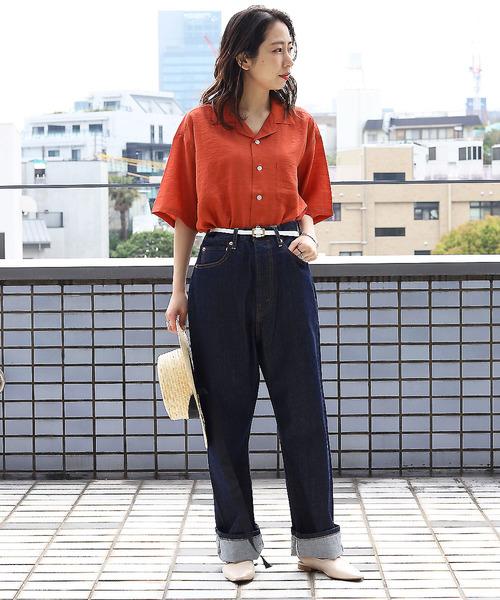 [FREAK'S STORE] 【WEB限定】開襟オープンカラーシャツ