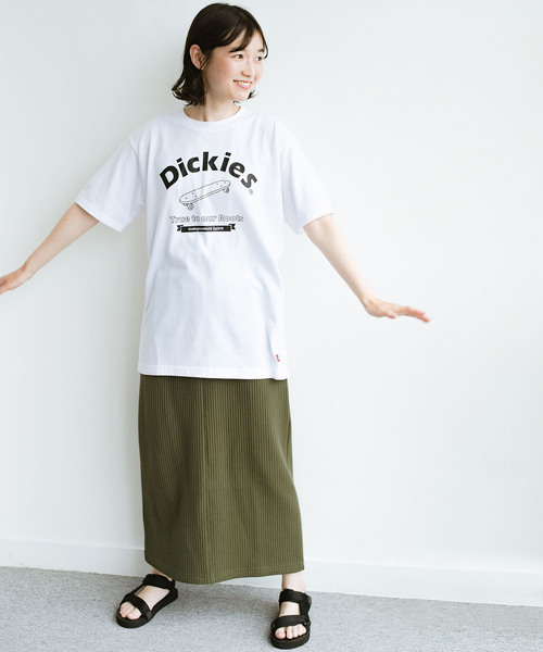 [haco!] 【Dickies】TC天竺プリントルーズフィットTシャツ2