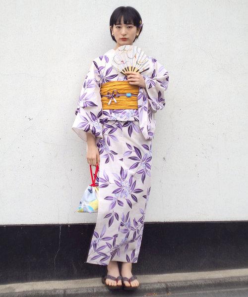 [Tokyo135°] 浴衣3点セット 浴衣+兵児帯+下駄 8000