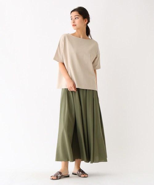 [DRESSTERIOR] 【洗える】ドロップショルダー度詰め天竺Tシャツ