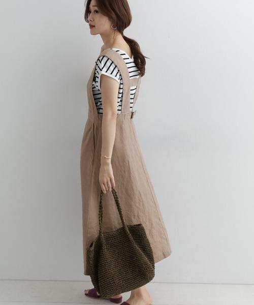 20[URBAN RESEARCH DOORS] リネンフレアジャンパースカート