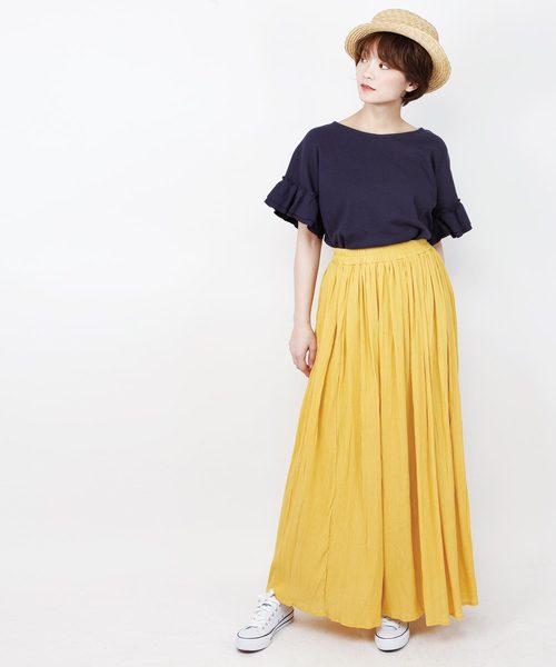 [aimoha] シフォンスカート