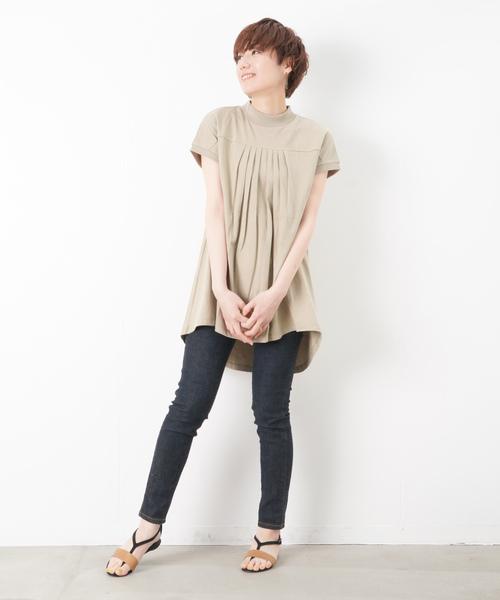 [LUCA/LADY LUCK LUCA] LC/LLL ヨーク切替バックロングフレンチスリーブTシャツ