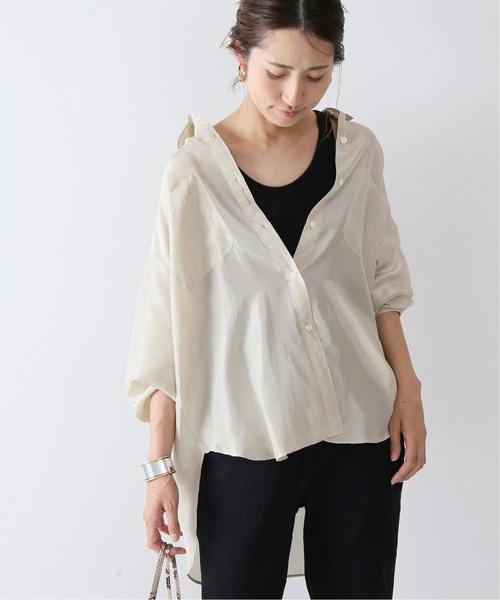 [Spick & Span] silk ワークシャツ◆