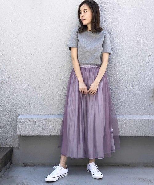 [PICCIN] メタリックxチュールリバーシブルスカート