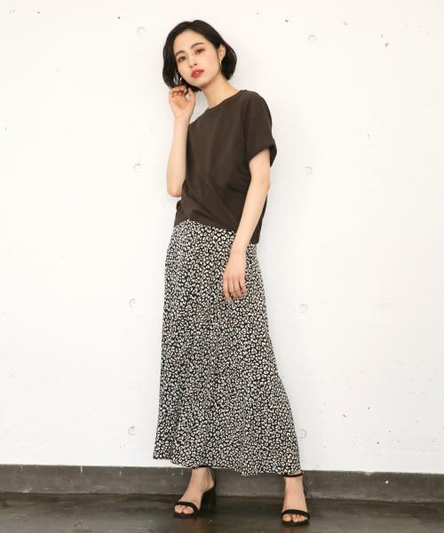 [LOWRYS FARM] レオパードAラインスカート 8404432