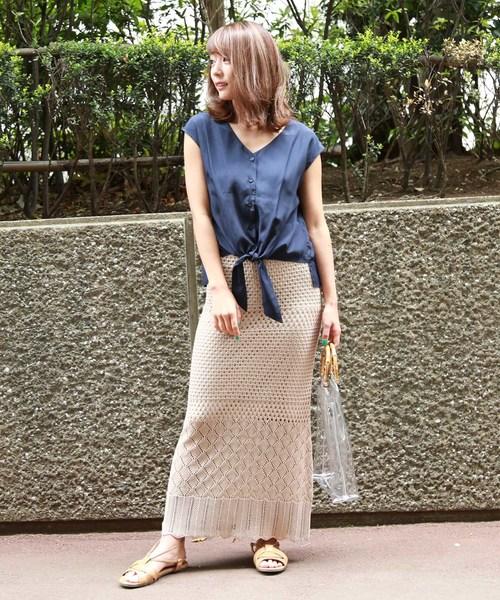 [FREE'S MART] 透かし編みニットスカート