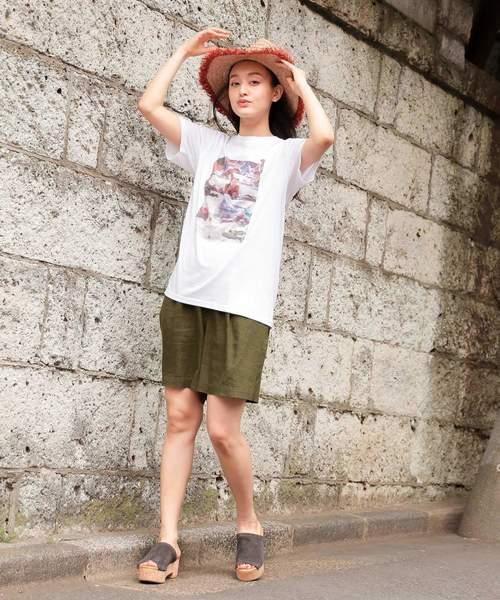 [niko and...] 【Roberta Bayley(ロベルタ・ベイリー)】フォトプリントTシャツ