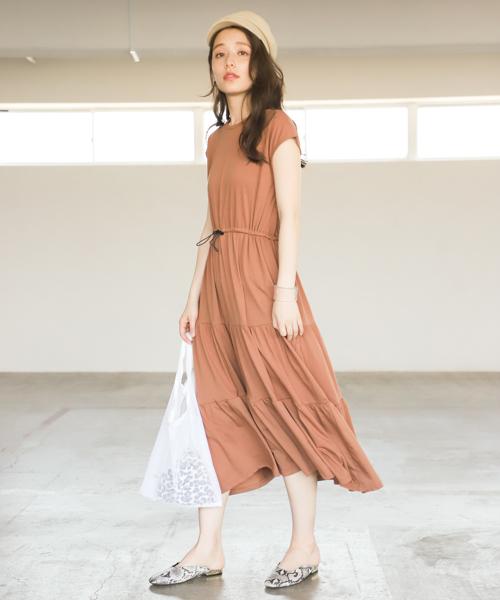 [mysty woman] カットティアードマキシワンピース 839666