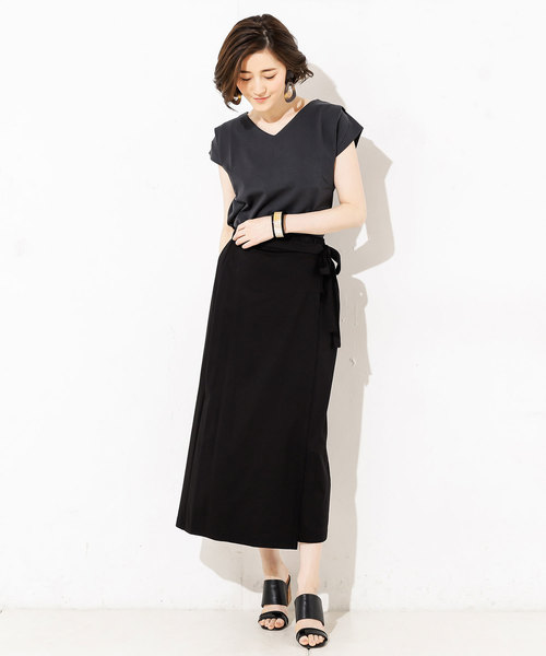 [RIVE DROITE] スムースラップスカート