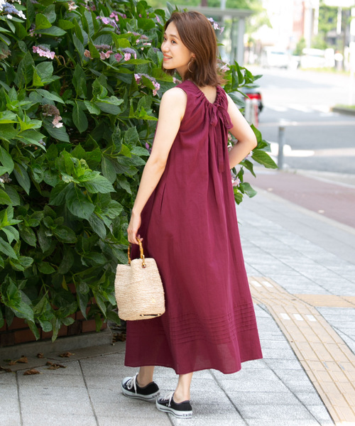 [URBAN RESEARCH ROSSO WOMEN] F by ROSSO バックリボンワンピース
