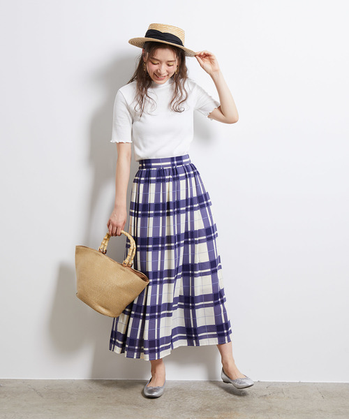 [ROPE' PICNIC] ビッグチェックロングスカート
