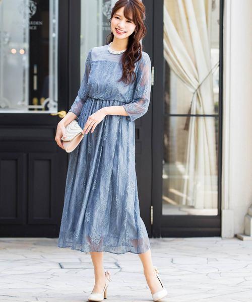 [Fashion Letter] 総レースロングドレス/結婚式・お呼ばれワンピース・パーティードレス