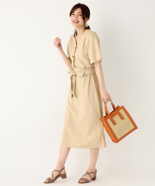 [GLOBAL WORK] セミフレアロングスカート【MATINEE LINE】/837040