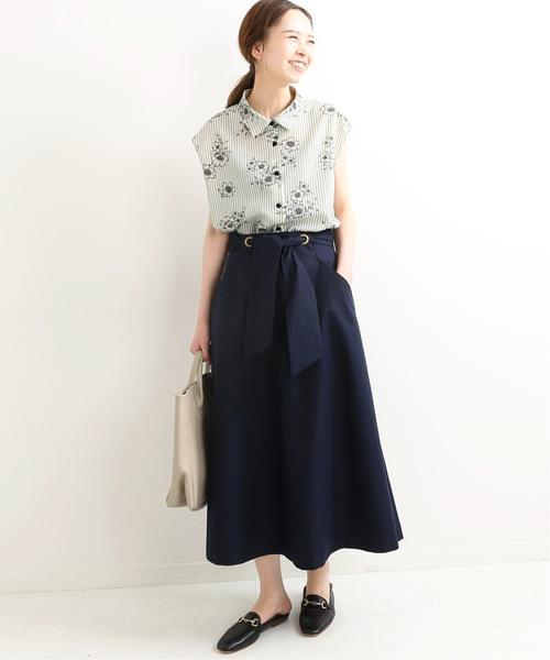 [IENA] ツイルリボンスカート