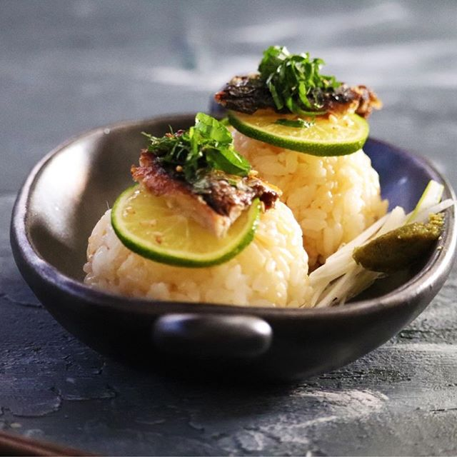 秋刀魚のおにぎり
